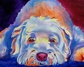 Wheaten Terrier, Pet Portrait, DawgArt, Dog Art, Wheaten Art, Pet Portrait Artist, Colorful Pet Portrait, Wheaten Terrier Art, Art Prints