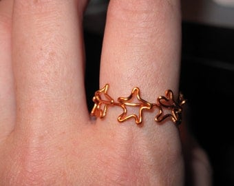 Wire Wrapped Stars MADE to ORDER Ring
