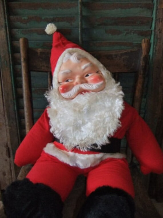 Vintage Santa Doll Rubber Face
