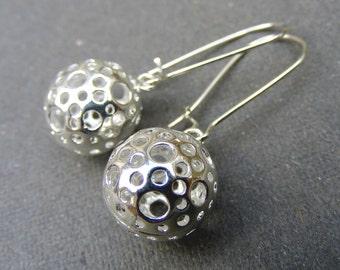 Silver drop earrings, silver dangle earrings Ornate Modern Silver Filigree Jewelry Teardrop Earrings hoop earrings Filigree Drop Earrings