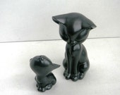 Halloween Cats - Smoke Grey Ceramic Cats