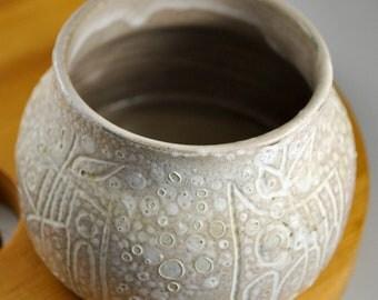 Beige Vase or Candle Holder