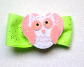 Pink owl bow