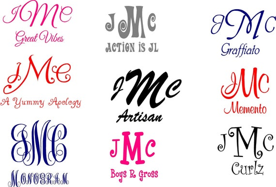 Personalized Vehicle Vinyl Decals Car Monogram Stickers - Personalized car decals