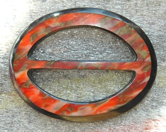 Turn of the Century Plastic Buckle in Tortoise Shell