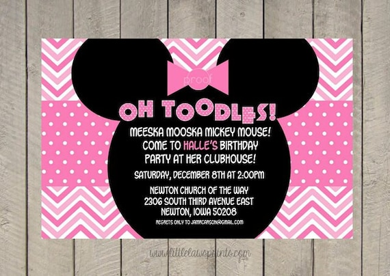 Mickey Mouse Clubhouse Invitation Template as good invitation layout