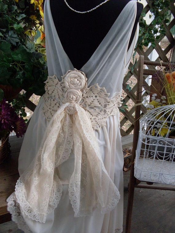 Wedding Dress Vintage Shabby Chic Gypsy Boho By Summersbreeze