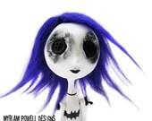 Halloween Doll - Button Eyed Doll - Goth Doll - Tim Burton Inspired