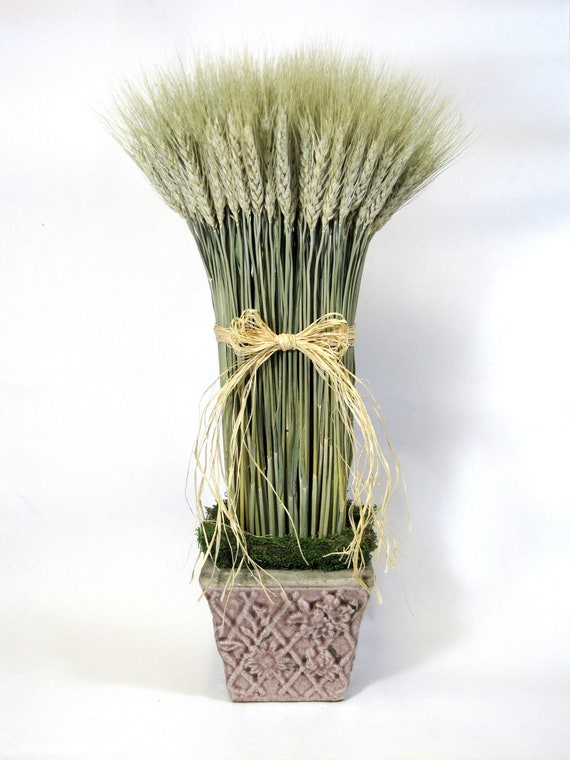 Decorative Wheat Sheaf,  Decor, Dried Wheat Arrangement, Wheat, Contemporary Floral