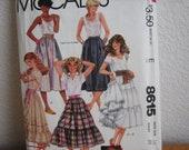 Vintage McCALL's Pattern 8615 Misses' Skirt  1983