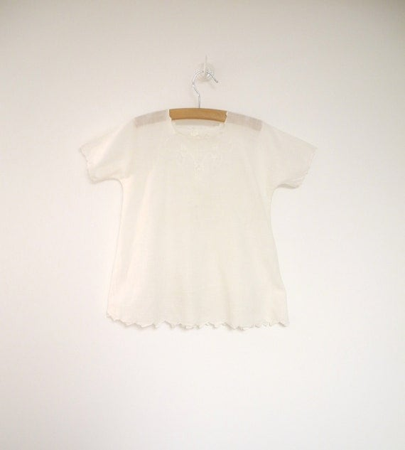 1920's Handmade Embroidered Ivory Christening Gown