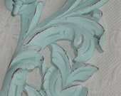 HOLD for Alison / Shabby Cottage Candle Holding Wall Sconce in Distressed Aqua