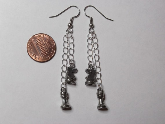 Gorgeous Geekery Knight to Rook Three Earrings