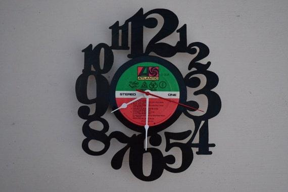 Vinyl Record Clock (artist is Led Zeppelin)