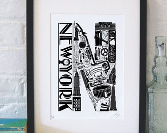 Best of New York print