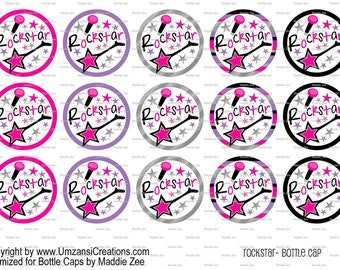 "15 Rockstar Digital Download for 1"" Bottle Caps (4x6)"