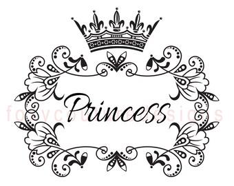 Princess with Crown Vintage Large Image, Word Digital Image, Download Sheet Transfer To Pillows Totes Tea Towels Burlap No. 9
