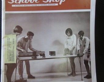 Vintage School Shop magazine November 1968 -28 years of service to teachers of industrial education Holography Periscoping mod kitschy