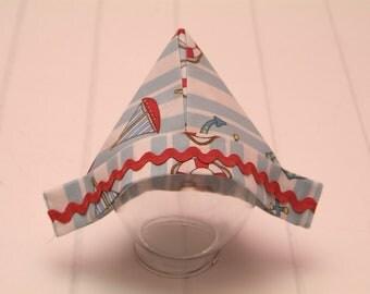 "Fabric Sailor Hat, Newborn Little Sailor Fabric ""Newspaper"" Hat, Newborn Photography Prop, Baby Boy Sailor Hat"