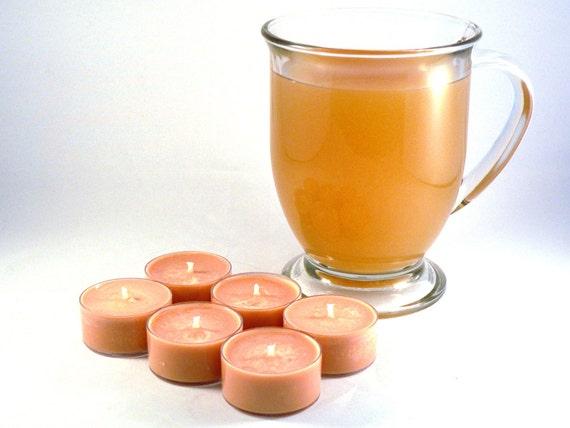 Spiced Cider Soy Tea Light Candles - Set of 6