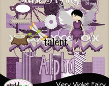 "Fairy  Digital Scrapbooking Kit ""Very Violet Fairy"" Add On"