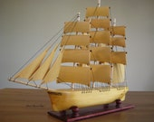 Hand Carved Hand Made Clipper Ship Model (RESERVED)