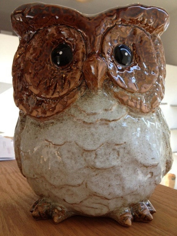 Large Ceramic Owl Planter By Tinybandit On Etsy