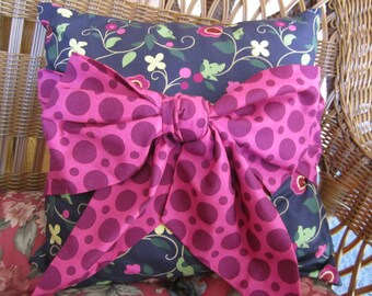 A Great Big Bow accent pillow