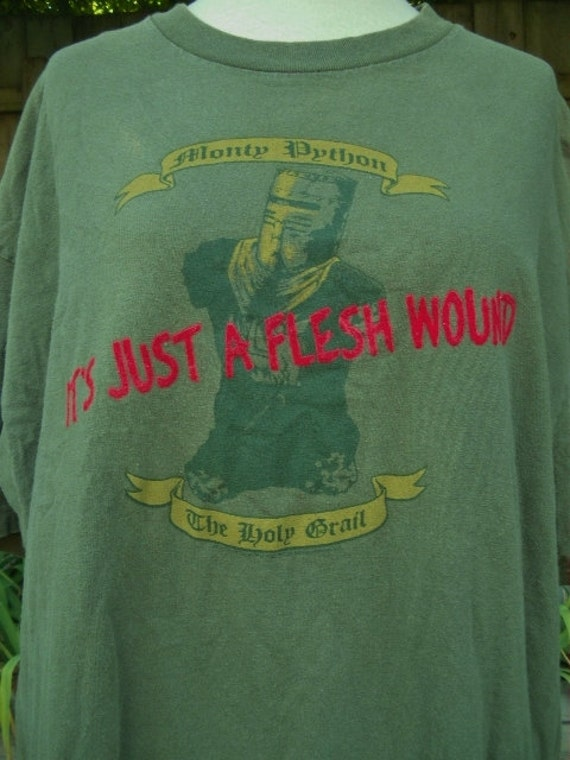 vintage monty python the holy grail its just a flesh wound tee shirt xl tall
