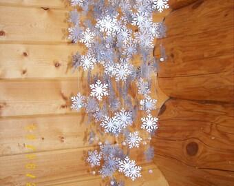 Large Silver Snowflake  Mobile