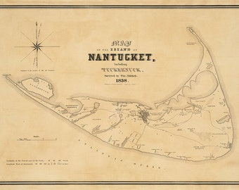 1838 Map of Nantucket