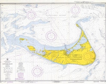 1969 Nautical Chart of Nantucket