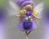 Melina - Needle Felted Wool  fairy girl , Flower fairy, Waldorf inspired fairy doll, wool