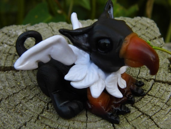 """OOAK Handmade Polymer Clay Baby Griffin """"Agustus"""" Fantasy Art Doll (RESERVED For Nicole)"""