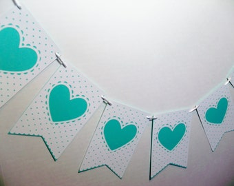 Wedding Valentine Banner Garland Dotted Swiss Look Valentines Day Anniversary Photo Prop