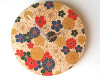 Objectify Nippon Flowers Wall Clock
