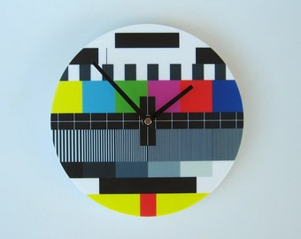 Objectify TV Test Pattern Wall Clock