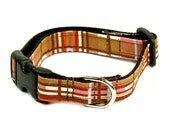 Dog Collar - Brown and Pink Plaid