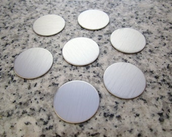 """MAGNETIC 3/4"""" (19MM) Round Brushed Finish Disc Stamping Blanks Golf Marker, 22g Stainless Steel - Silver Alternative MR06"""
