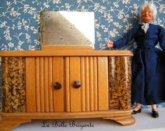 Vintage dollhouse vanity, for dollhouse larger scale