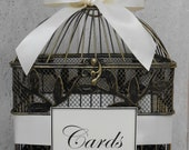 Birdcage Wedding Card Holder / Vintage Style Birdcage Cardholder / Card Box