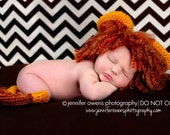 Crochet Newborn Little Lion Photography Hat and Tail Prop