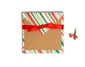 Blank Holiday cards. DIY card set for Christmas with designer paper envelopes. Holiday stationery 18 piecese
