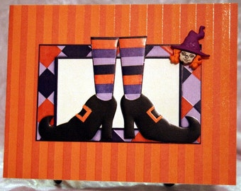 Halloween Witch's Shoes Card  20120579