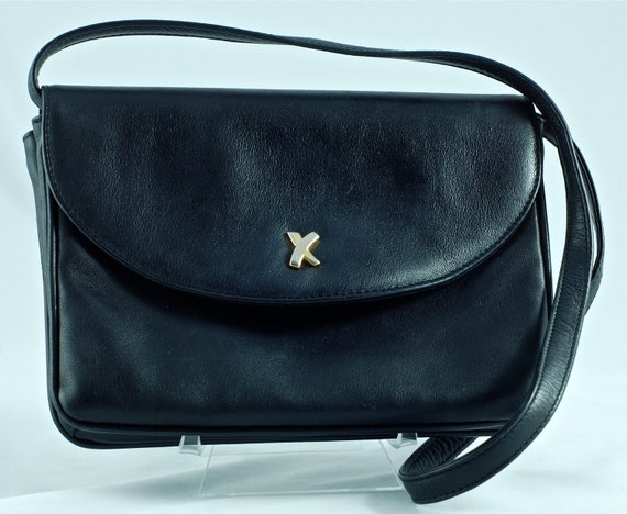 Vintage Paloma Picasso Black Leather Purse