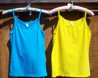 Special Offering:  Two Delicate Dyed to Match Camisoles for Thirtysix Dollars