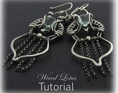 Tutorial Hinged Wire Woven Earring