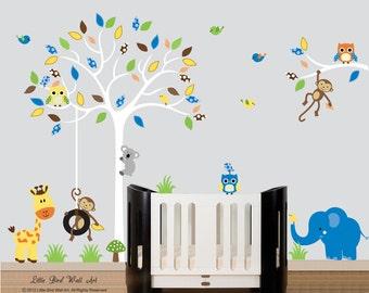 Nursery tree decal, decal tree, tree nursery wall, owl decal, decals tree, decals owls, baby decal, vinyl decal tree, baby room decor