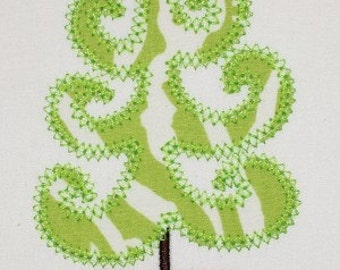 Christmas Whimsical Tree Digital Embroidery Design Machine Applique