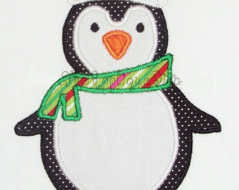 Christmas Winter Penguin Embroidery Design Machine Applique